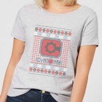 DC Cyborg Knit Women's Christmas T-Shirt - Grey - XXL - Grey