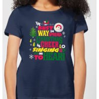 Elf Christmas Cheer Women's Christmas T-Shirt - Navy - M - Navy