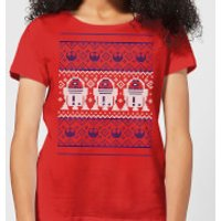 Star Wars R2-D2 Knit Women's Christmas T-Shirt - Red - XS - Red