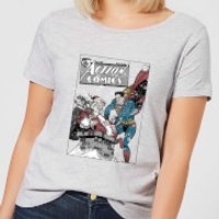 DC Superman Action Comics Women's Christmas T-Shirt - Grey - XXL - Grey