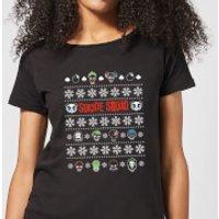 Image of DC Suicide Squad Women's Christmas T-Shirt - Black - XXL - Black