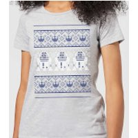 Star Wars R2-D2 Knit Women's Christmas T-Shirt - Grey - S - Grey