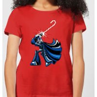 Star Wars Candy Cane Darth Vader Women's Christmas T-Shirt - Red - XL - Red