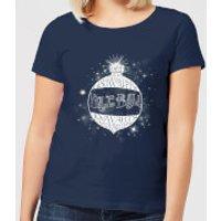 Harry Potter Yule Ball Baubel Women's Christmas T-Shirt - Navy - XL - Navy