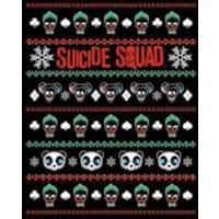 DC Suicide Squad Knit Pattern Women's Christmas Sweatshirt - Black - XS - Black