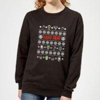 DC Suicide Squad Women's Christmas Sweatshirt - Black - 3XL - Black