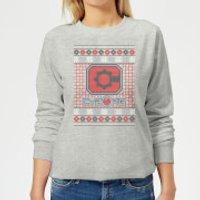 DC Cyborg Knit Women's Christmas Sweatshirt - Grey - M - Grey