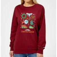 National Lampoon Griswold Christmas Starter Pack Women's Christmas Sweatshirt - Burgundy - XS - Burg