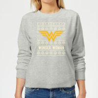 DC Wonder Woman Women's Christmas Sweatshirt - Grey - 4XL - Grey