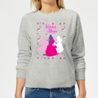 Disney Princess Silhouettes Women's Christmas Sweatshirt - Grey - XXL - Grey