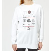 Star Wars Imperial Knit Women's Christmas Sweatshirt - White - XS - White