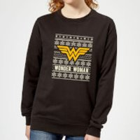 DC Wonder Woman Women's Christmas Sweatshirt - Black - XS - Black