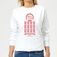 National Lampoon Jelly Of The Month Club Women's Christmas Sweatshirt - White - XL - White