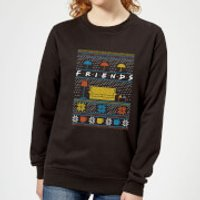 Friends Sofa Knit Women's Christmas Sweatshirt - Black - S - Black