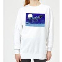 Image of Star Wars AT-AT Darth Vader Sleigh Women's Christmas Sweatshirt - White - XL - White