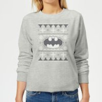 DC Batman Knit Women's Christmas Sweatshirt - Grey - M - Grey