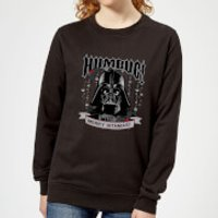 Star Wars Darth Vader Humbug Women's Christmas Sweatshirt - Black - S - Black