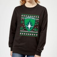 Guardians Of The Galaxy Badge Pattern Christmas Women's Christmas Sweatshirt - Black - S - Black