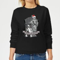 Star Wars Happy Holidays Droids Women's Christmas Sweatshirt - Black - M - Black