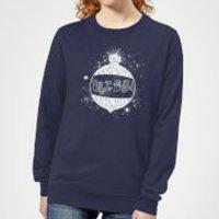 Harry Potter Yule Ball Baubel Womens Christmas Sweatshirt - Navy - XS - Navy