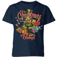 Looney Tunes Its Christmas Baby Kids' Christmas T-Shirt - Navy - 3-4 Years - Navy