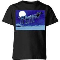 Star Wars AT-AT Darth Vader Sleigh Kids' Christmas T-Shirt - Black - 11-12 Years - Black