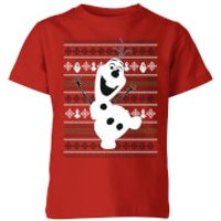Disney Frozen Olaf Dancing Kids' Christmas T-Shirt - Red - 9-10 Years - Red