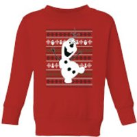 Disney Frozen Olaf Dancing Kids' Christmas Sweatshirt - Red - 3-4 Years - Red