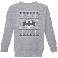 DC Batman Knit Kids' Christmas Sweatshirt - Grey - 5-6 Years - Grey