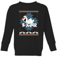 Disney Frozen Olaf and Snowmen Kids' Christmas Sweatshirt - Black - 3-4 Years - Black