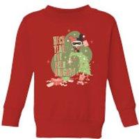 DC Heck Yeah I've Been Naughty! Kids' Christmas Sweatshirt - Red - 5-6 Years - Red