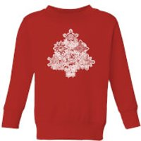 Marvel Shields Snowflakes Kids' Christmas Sweatshirt - Red - 5-6 Years - Red
