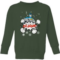 DC Batman Be Good Kids' Christmas Sweatshirt - Forest Green - 5-6 Years - Forest Green