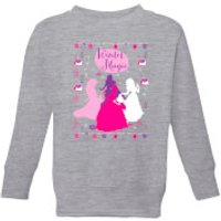 Disney Princess Silhouettes Kids' Christmas Sweatshirt - Grey - 9-10 Years - Grey