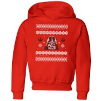 Star Wars Darth Vader Knit Kids' Christmas Hoodie - Red - 3-4 Years - Red