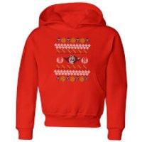 Star Wars Yoda Knit Kids' Christmas Hoodie - Red - 7-8 Years - Red