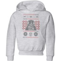 Star Wars Darth Vader Face Knit Kids' Christmas Hoodie - Grey - 7-8 Years - Grey