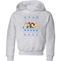 Disney Princess Faces Kids' Christmas Hoodie - Grey - 3-4 Years - Grey