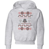 Star Wars Empire Knit Kids' Christmas Hoodie - Grey - 3-4 Years - Grey
