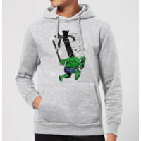 Marvel The Incredible Hulk Christmas Present Christmas Hoodie - Grey - XL - Grey