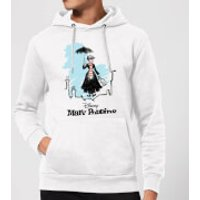 Mary Poppins Rooftop Landing Christmas Hoodie - White - M - White