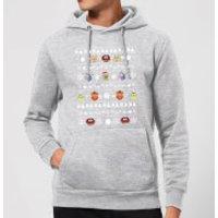 Muppets Pattern Christmas Hoodie - Grey - XL - Grey