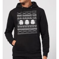 Star Wars Stormtrooper Knit Christmas Hoodie - Black - S - Black