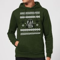 Star Wars Darth Vader Knit Christmas Hoodie - Forest Green - S - Forest Green