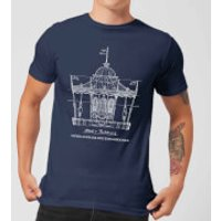 Mary Poppins Carousel Sketch Men's Christmas T-Shirt - Navy - L - Navy