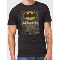 DC Seasons Greetings From Gotham Mens Christmas T-Shirt - Black - 5XL - Black