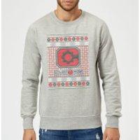 DC Cyborg Knit Christmas Sweatshirt - Grey - XL - Grey