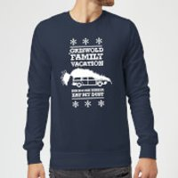 National Lampoon Griswold Vacation Ugly Knit Christmas Sweatshirt - Navy - S - Navy
