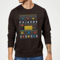 Friends Sofa Knit Christmas Sweatshirt - Black - XXL - Black