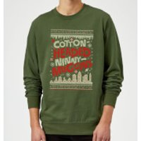Elf Cotton-Headed-Ninny-Muggins Knit Christmas Sweatshirt - Forest Green - L - Forest Green